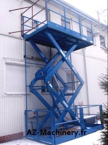 monte charge industriel ciseaux az lift capacit 1 500 kg lev e m az machinery. Black Bedroom Furniture Sets. Home Design Ideas