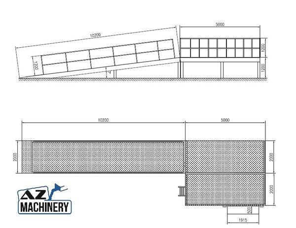 loading table with dock ramp az ramp dispatch 150 40 8t. Black Bedroom Furniture Sets. Home Design Ideas